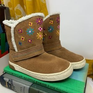 Stride Rite Dixie Sherpa & Leather Kids Boots